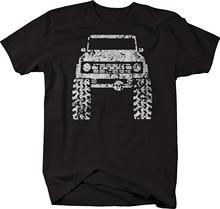2020 Summer Cool Men Tee Shirt 1960's 70's Car Bronco Lifted Mud Tires Truck Tshirt Funny T-shirt