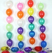 Ballons queue de 6 pouces 100 pièces/lot   Multicolore, fournitures de fête danniversaire et de mariage, ballon lien de décoration pour salle de mariage