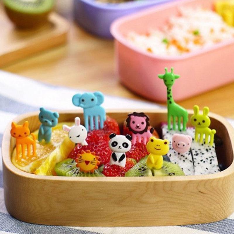 2 Packs Special Design Bento Kawaii Animal Food Fruit Picks Forks Lunch Box Accessory Decor Tool #81167