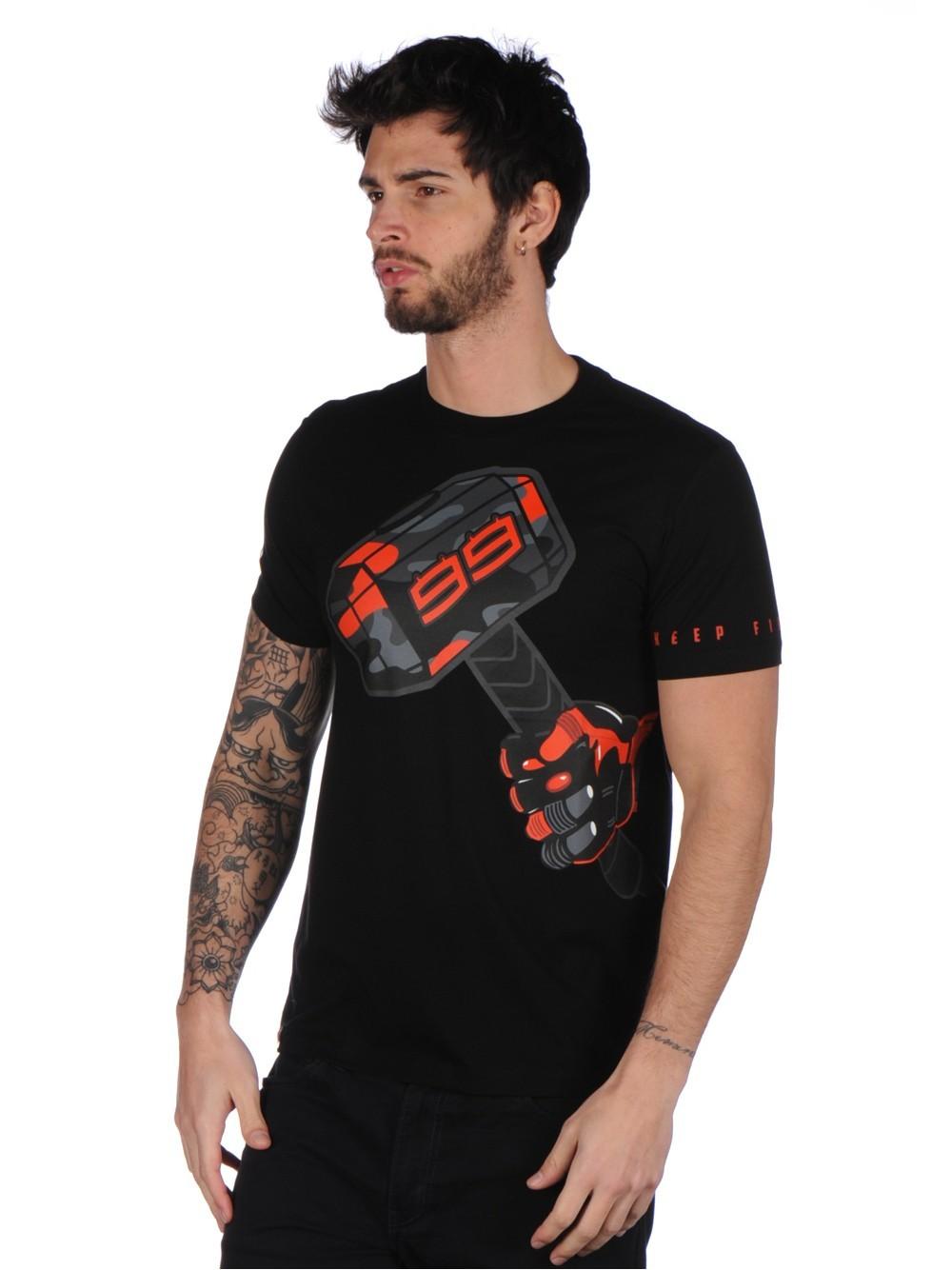 Free shipping 2017 Jorge Lorenzo 99 Moto GP Hammer Black T-shirt Racing Moto GP Cotton Men's T-shirt