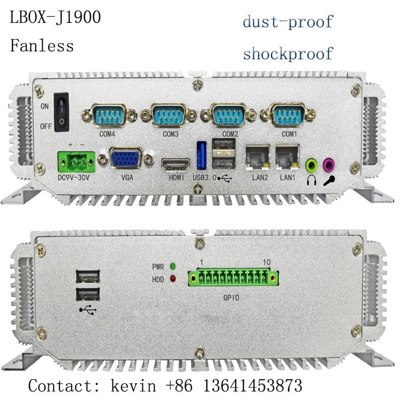 2020 high performance 4Gb ram 64Gb SSD Mini PC intel celeron J1900 quad-core processor Fanless Embedded industrial computer