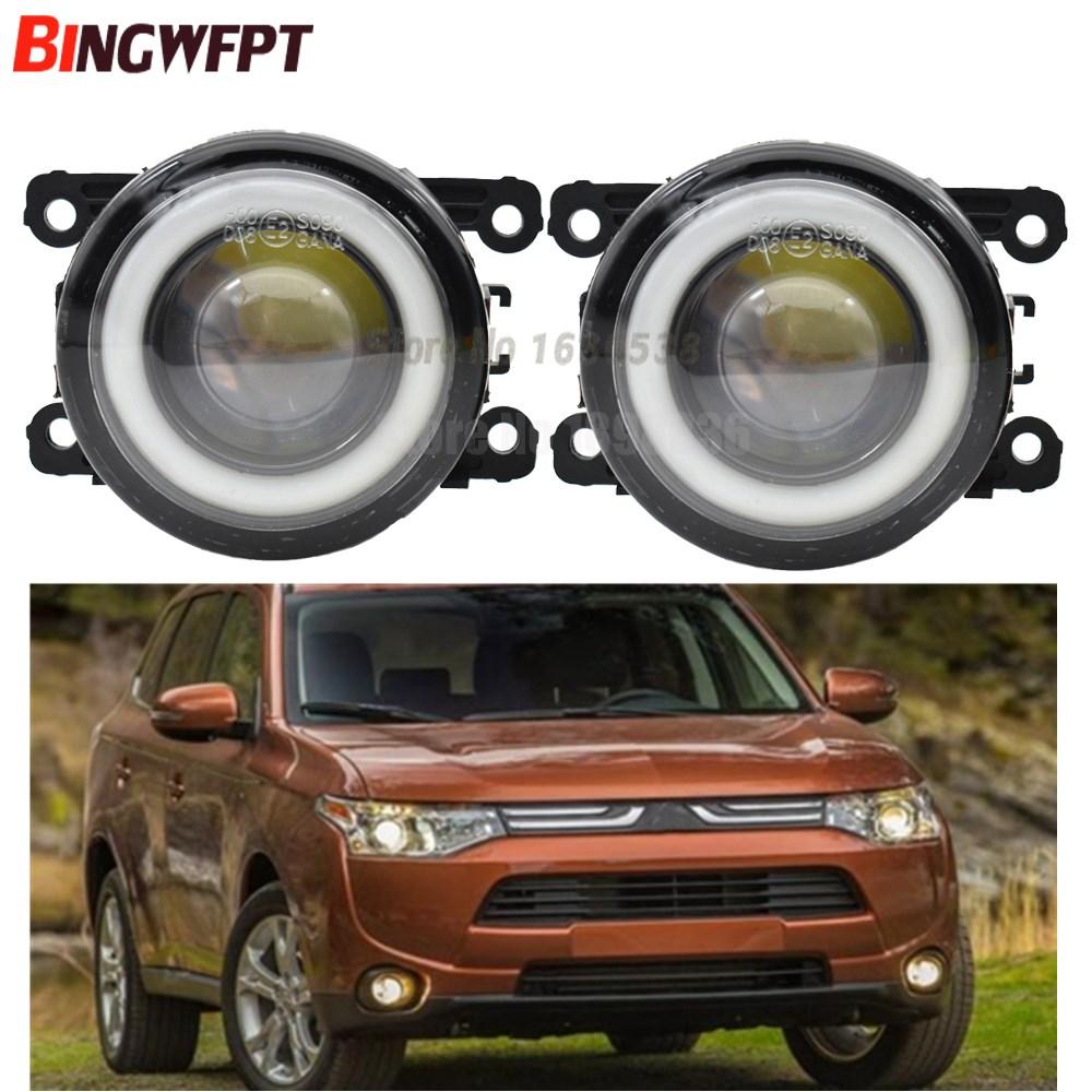 2x Car Accessories LED Bulb Front Fog Light Angel Eye H11 12V For Mitsubishi Outlander 2006-2015 For Mitsubishi ASX 2013 2014