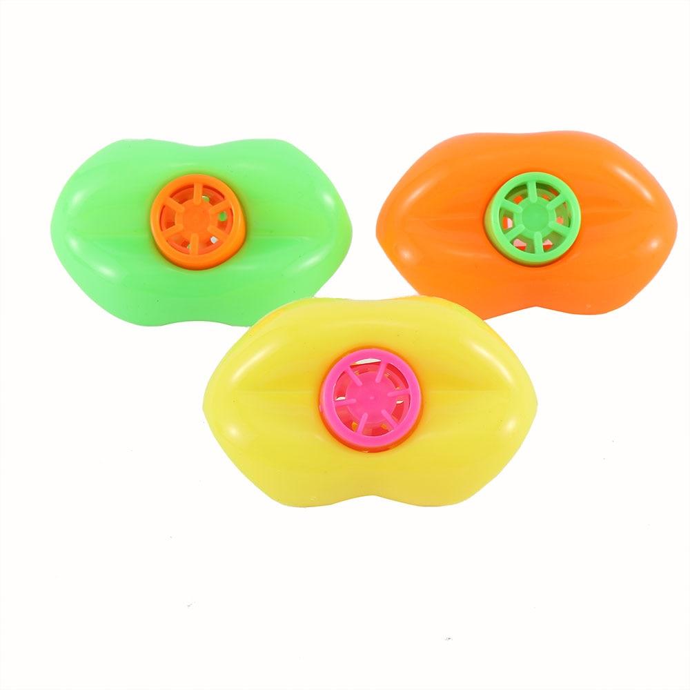15 unids/set Linda plástico silbato de labios relleno para piñatas clásico juguetes para niños de cumpleaños de suministros, regalo de juguetes, fiesta de Navidad juguete