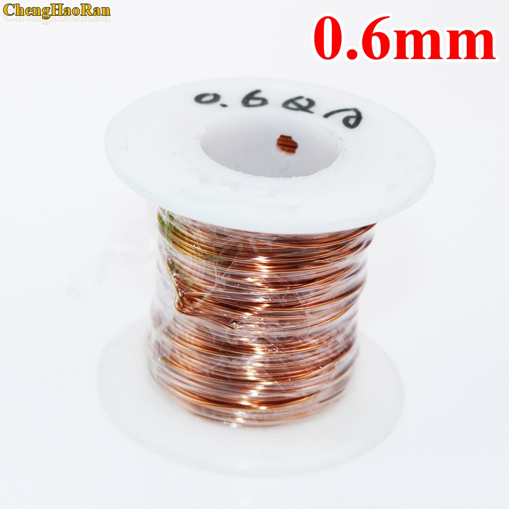 kasi 0 01mm 0 02mm 120m enameled copper wire polyurethane enameled copper line soldering solder for iphone chip conductor wire ChengHaoRan 0.6 mm 1m QA-1-155 Polyurethane enameled Wire Copper Wire enameled Repair Magnet Wire 0.6R 1meter