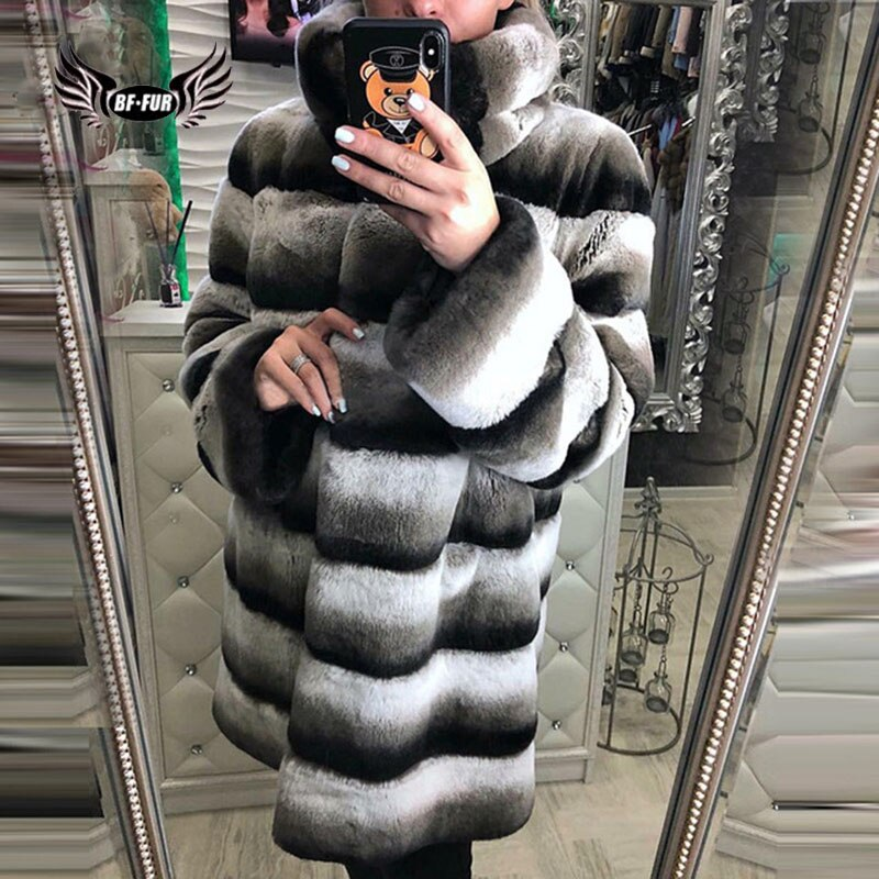 children whole real rabbit fur coat autumn winter warm long boys fur coat v neck thicker warmer clothes natural casual coatscn 1 Natural Rex Rabbit Fur Coat Wide-waisted Thick Warm Jacket Winter Whole Skin Real Fur Outerwear For Women Fur Coat With Collar