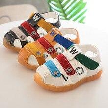 2019 letnie nowe sandały chłopięce Baotou antypoślizgowe ścięgna wołowe dolne buty ze skóry w baby boy baby