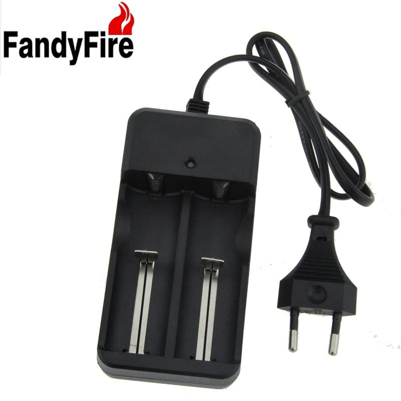 Cargador de batería de iones de litio FandyFire, Cargador Universal de enchufe europeo de 100-240V para baterías 16340 18650 10440 14500 17670 26650
