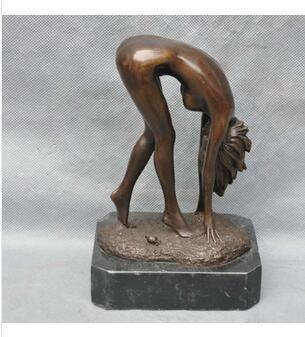 Bronze home decoration Brass Vintage Bronze Sexy Body Beauty Woman Nude Art Sculpture Statue cigarette lighter cooking tools