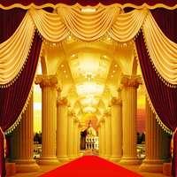 10x10ft רקע תמונה חלקה ויניל צילום רקע אדום וילון מותאם אישית חתונה שלב בית לקשט תפאורות