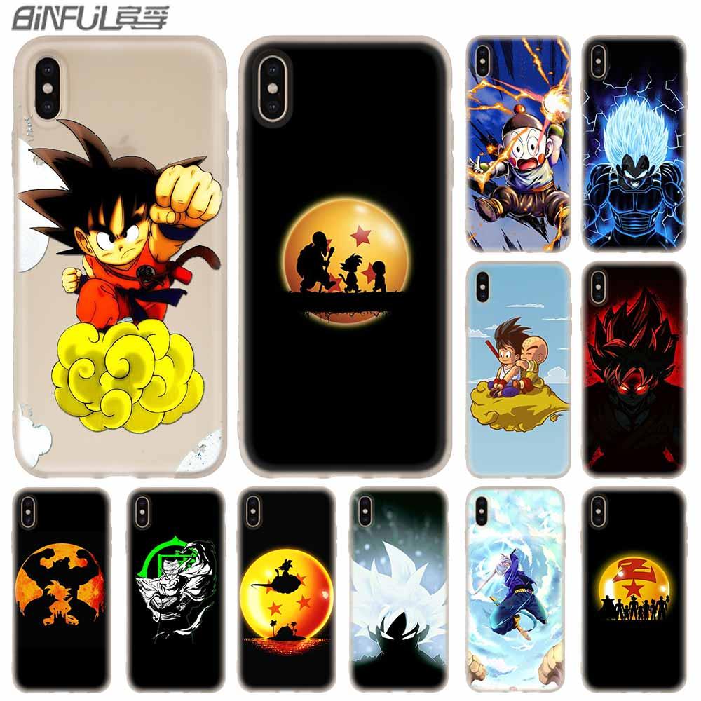 Casos de telefone silicone capa macia para iphone 11 pro x xs max xr 6 s 7 8 plus 5 4S se dbz dragon ball anime fundas etui casos