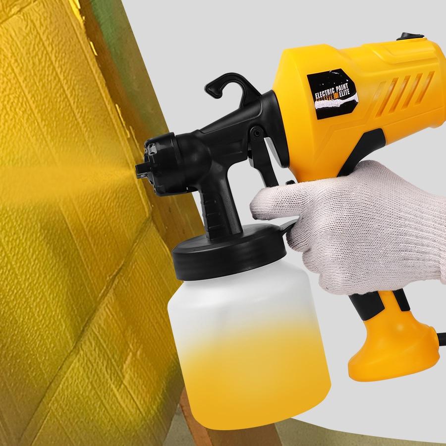 Pulverizador handheld elétrico pistola de pintura pulverizadores alta potência casa aerógrafo elétrico para pintura carros madeira móveis parede madeira madeira madeira