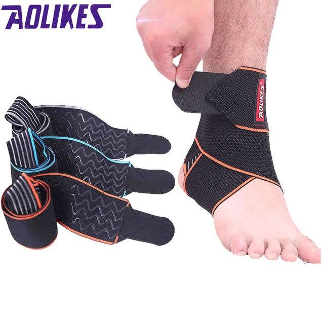 AOLIKES 1 pièces sécurité cheville soutien Gym course Protection noir pied Bandage élastique cheville orthèse bande garde Sport Tobilleras