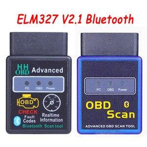 Image 1 - 2019 Новый HH OBD ELM327 V2.1 Bluetooth Мини OBD2 автомобильный диагностический инструмент ELM 327 Bluetooth для Android/Symbian для протоколов OBDII
