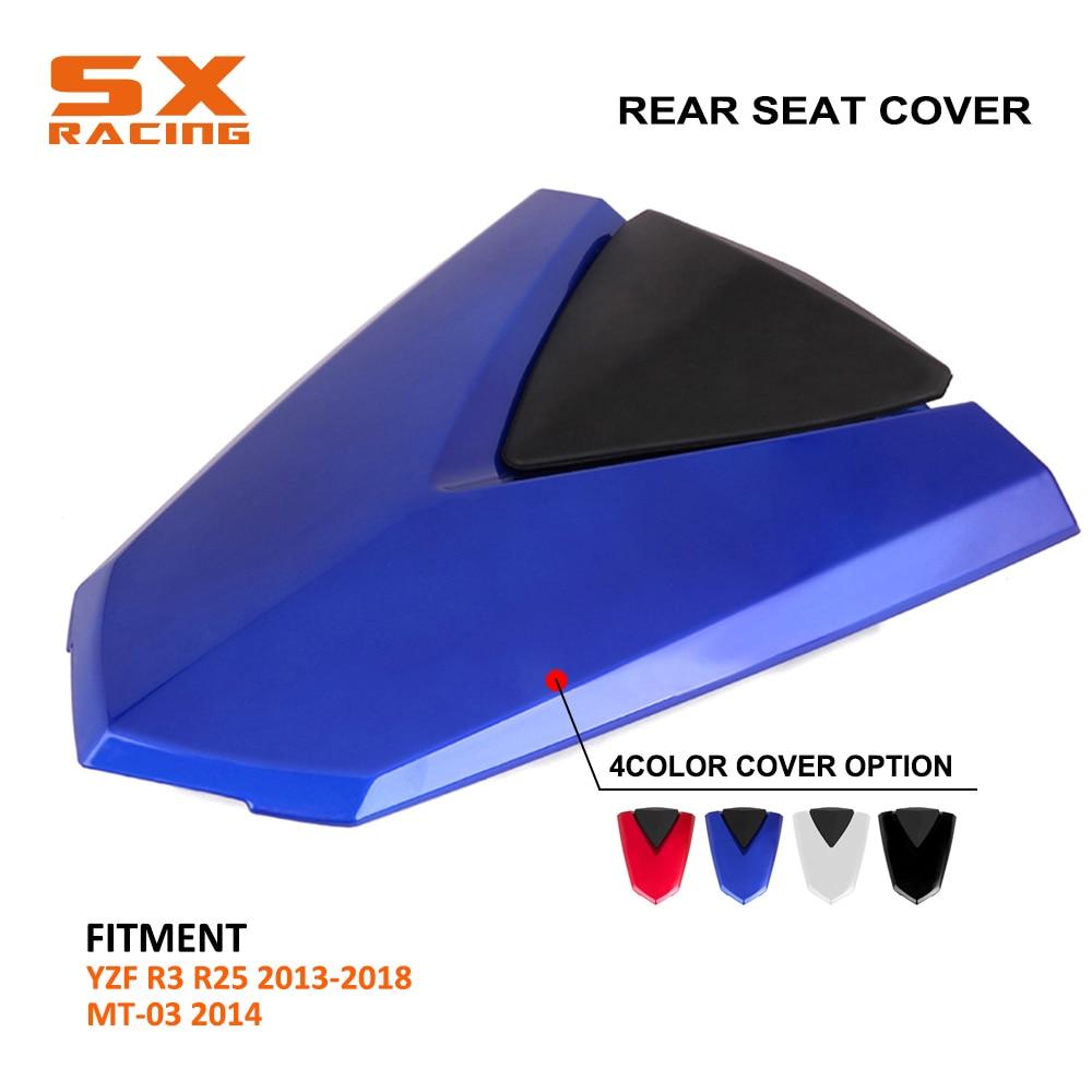 Cubierta de asiento trasero de plástico ABS de alta calidad para motocicleta para YAMAHA YZF R3 R25 2013 2014 2015 2016 2017 2018 MT03 2014