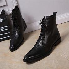 Choudory robe militaire italienne bottes bout pointu talons hauts styles occidentaux sangle noire cowboy bottes chaussures homme