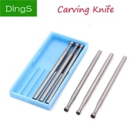 6pcs 1 02 3mm engraving knife precision tungsten carbide burrs milling cutter rotary tools recessed grinding head 2 35mm xiz