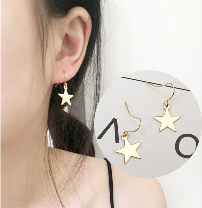 Fashion Personality Simple Five-pointed Star Earrings Female Accessories Wholesale Stars Geometric E