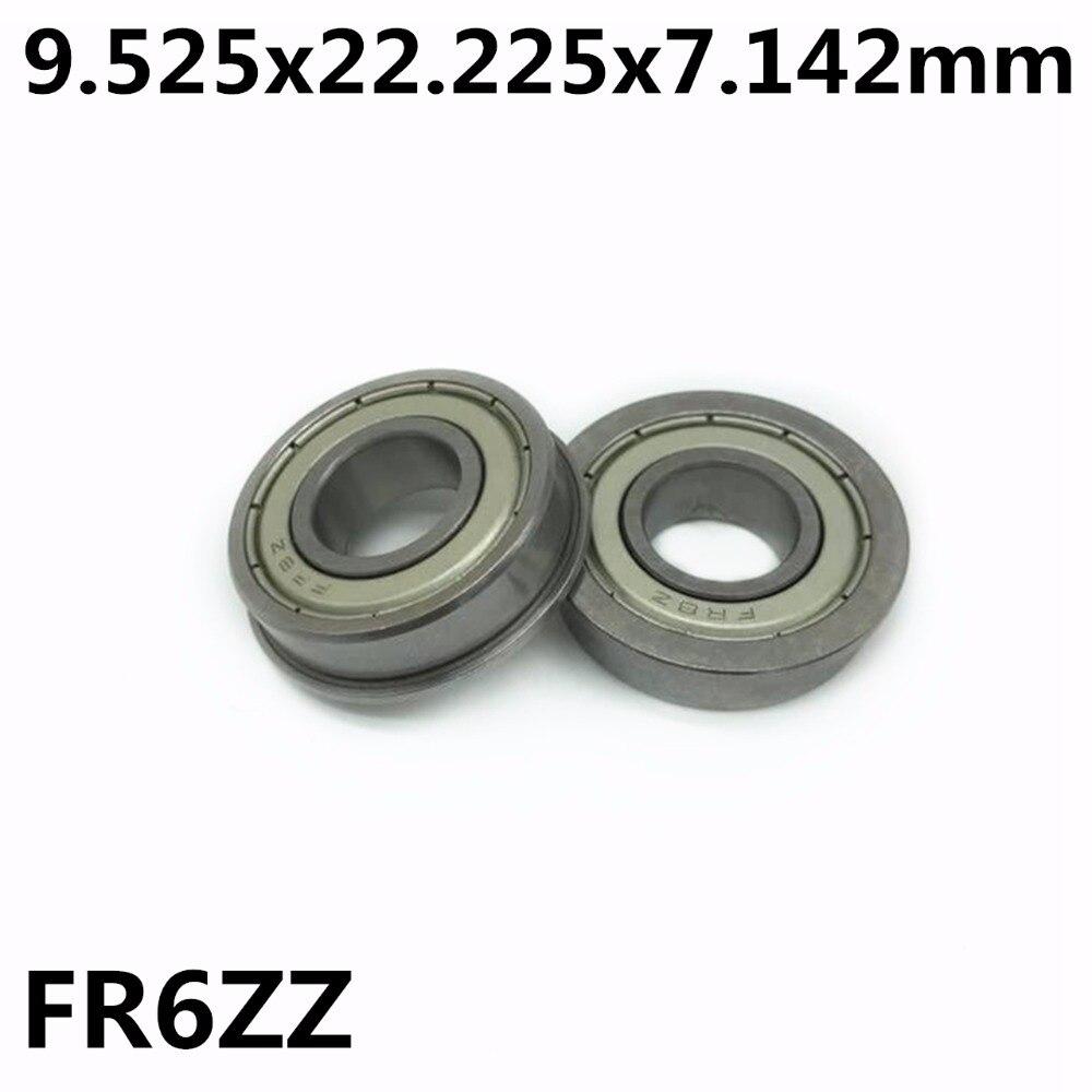 محامل كروية FR6ZZ 9.525x22.225x7.142 مم ، 50 قطعة ، أخدود عميق ، جودة عالية ، FR6