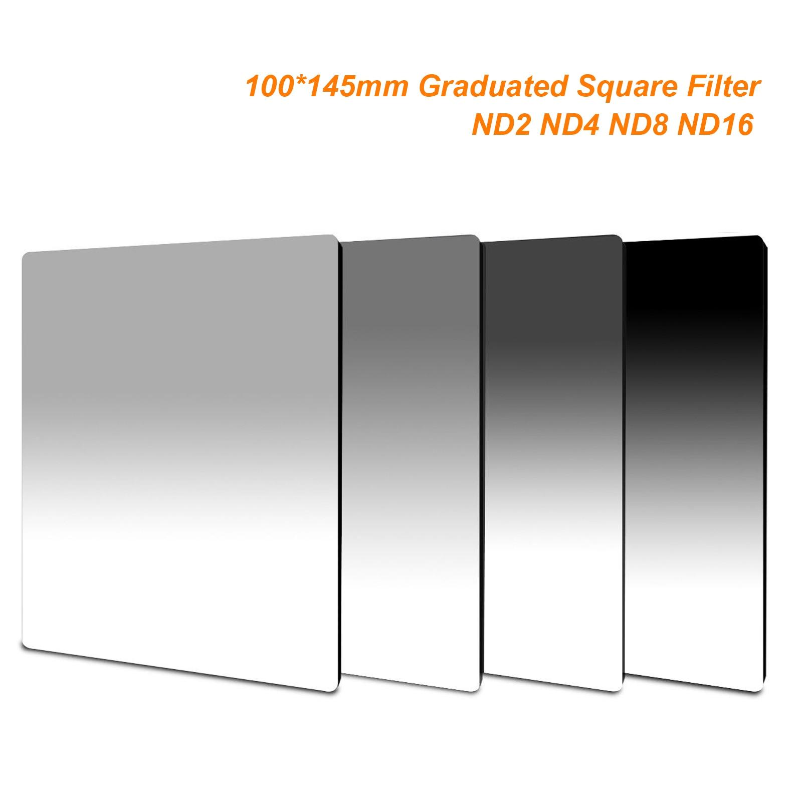 Densidade neutra graduada 100*145mm do nd2 nd4 nd8 nd16 de 100mm x 145mm filtro quadrado para a série de lee cokin z