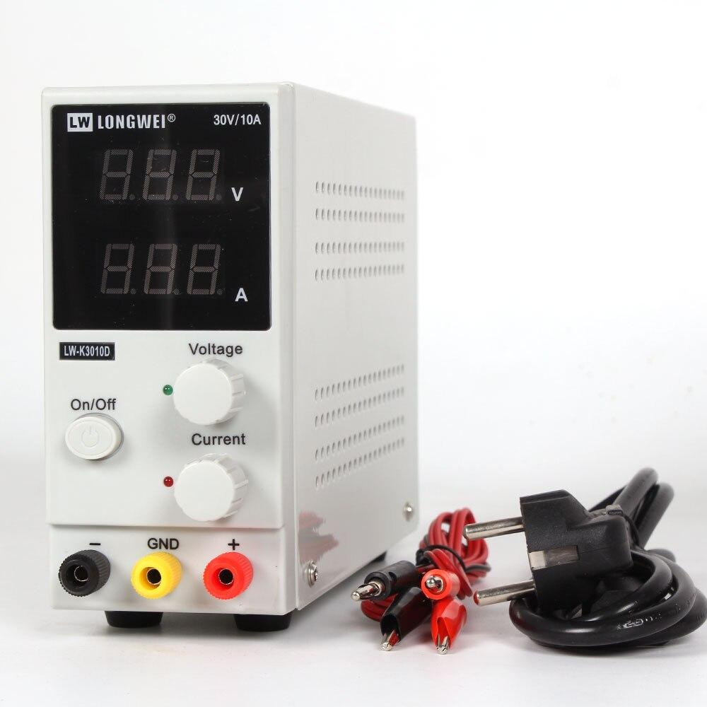 Новый 30В 10А светодиодный дисплей Регулируемый импульсный регулятор постоянного тока источник питания LW-K3010D ремонт ноутбука переработа 110В-220В