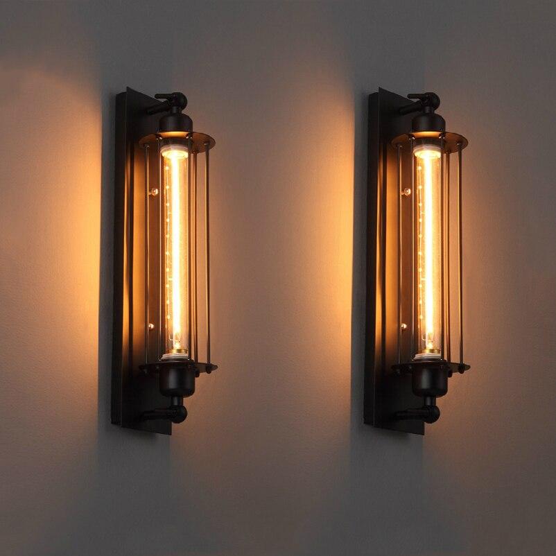 Лофт e27 винтажный промышленный настенный светильник для спальни, кафе, ресторана, Настенный Бра, прикроватный светильник для ванной комнаты