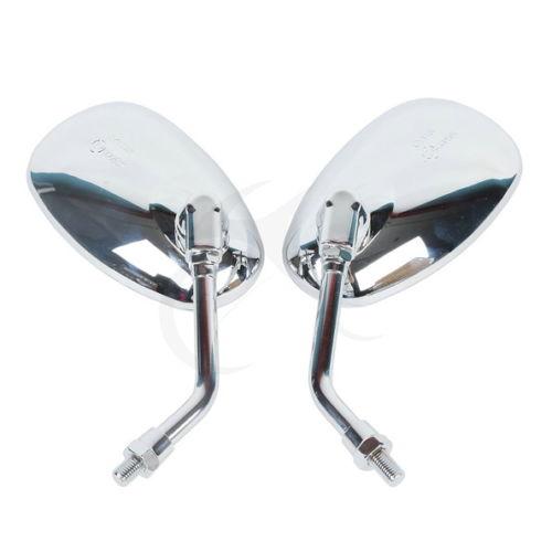 Left Right Chrome Mirrors For Honda Magna Rebel Shadow VT750 VT1100 400 Kawasaki VN 2000 Vulcan VN1600 VN1500 VN900 VN800 VN400