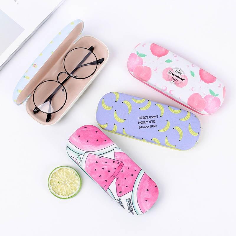 Portable Sunglasses Case Candy Color Letter Fruit Pattern Goggles Glasses Box NYZ Shop