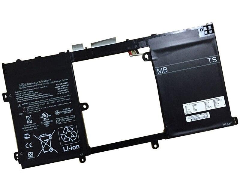 7.4V 28WH original laptop battery NB02 for TPN-Q128 11-h000 11-h100 x2 PC Series HSTNN-YB5K Free shi