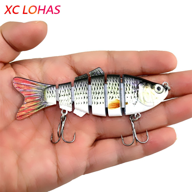 10cm 18g Isca Artificial Lures Lifelike Fishing Lure 6 Segment Swimbait Crankbait Hard Bait Fishing Tackle JM020