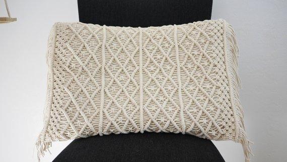Macrame cushion cover Bohemian throw pillow cover / wedding decorative cushion sham custom size and color