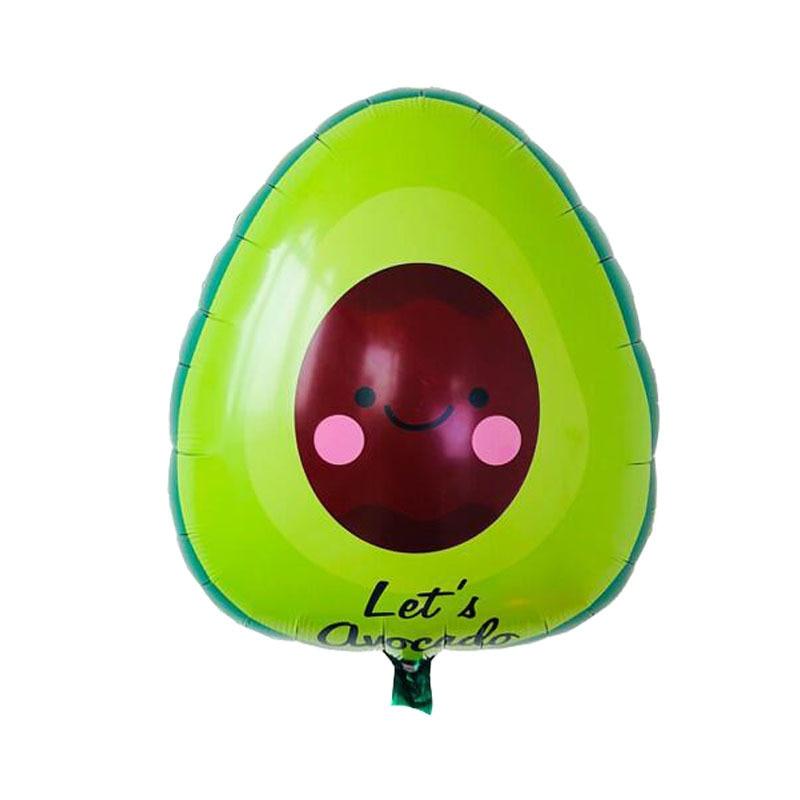 Nuevo globo de fruta de aguacate de 60x58 1 Uds., globos de papel de aluminio de dibujos animados, globos de cumpleaños suministros y decoraciones para fiestas, juguete para niños
