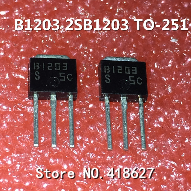 5 unids/lote 2SB1203 B1203-251 transistor PNP 60V 5A