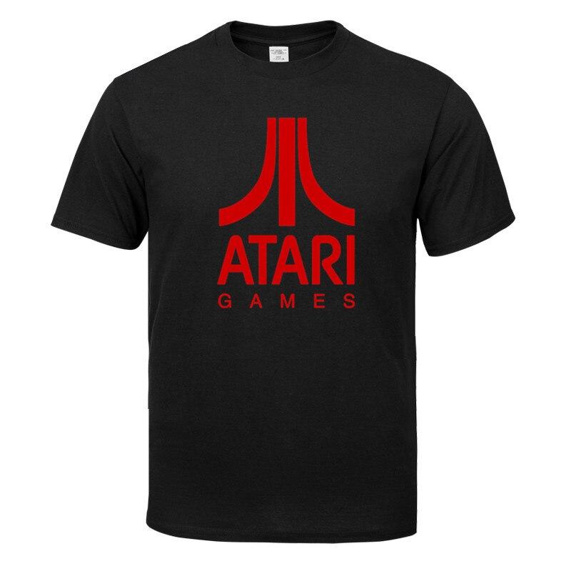 Camiseta de manga corta de cuello redondo de algodón clásico único de ATARI games