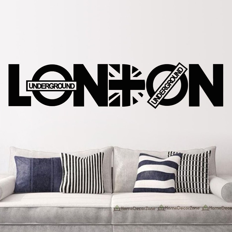 London Wall Sticker Union Jack Wall Decal Removable Home Decor Self Adhesive Wall Art Murals For Living Room Bedroom