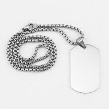 Ожерелье из 100% нержавеющей стали с подвеской в виде собачки для мужчин, пустая армейская кеттинг, военный воротник с зеркальной полировкой, оптовая продажа