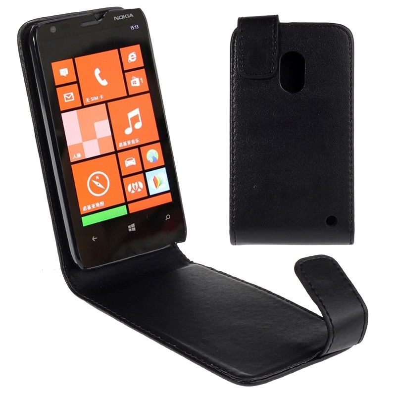 Funda de plástico de cuero PU de alta calidad para Nokia Lumia 620