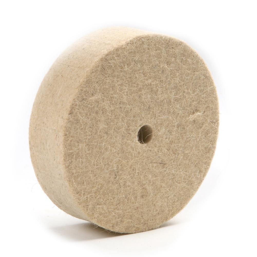 100mm 4 inch Thick Wool Felt Polisher Buffing Pad Grinding Disc Polishing Wheel