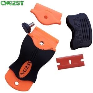Image 4 - CNGZSY клей, бритва, скребок для керамической печи, очиститель оконных стекол, лопатка для льда, пленка, наклейка, этикетка, шпатель, инструменты для очистки автомобиля K04