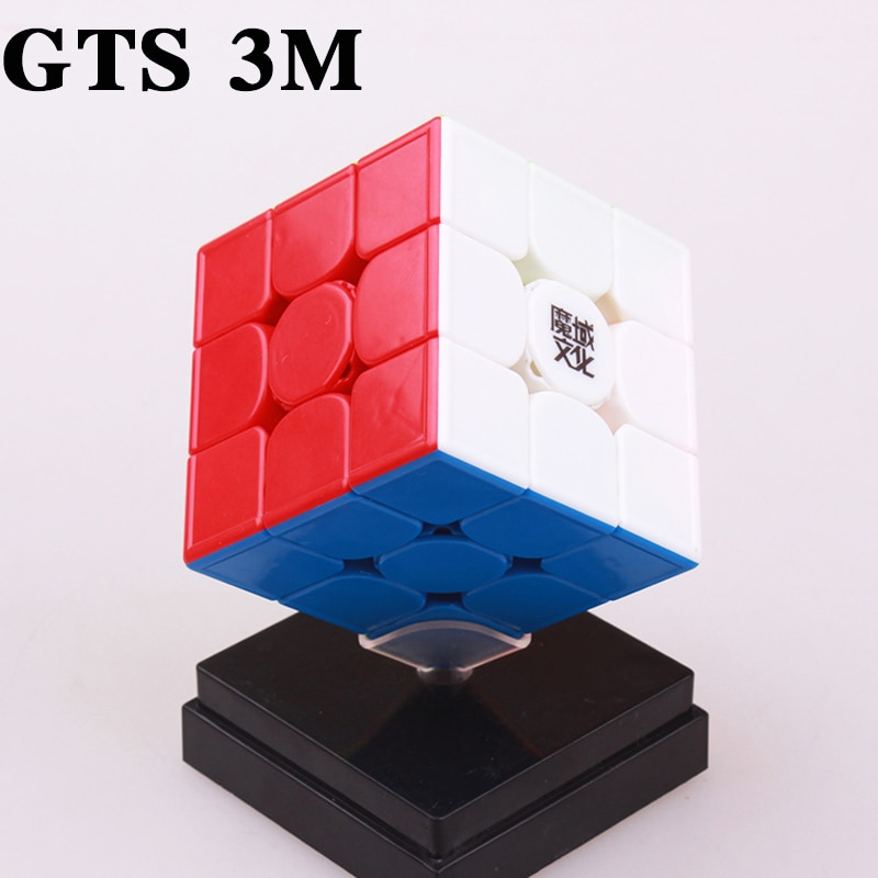 aosu gts m 4 4 4 magnetic magic cubes puzzle speed cube educational toys gifts for kids children MOYU Weilong GTS 3M 3X3x3 Magnetic Cube GTS3 Speed Cube Profissional Puzzle Magnet Magic Cubes Toys For Children Moyu  Cube