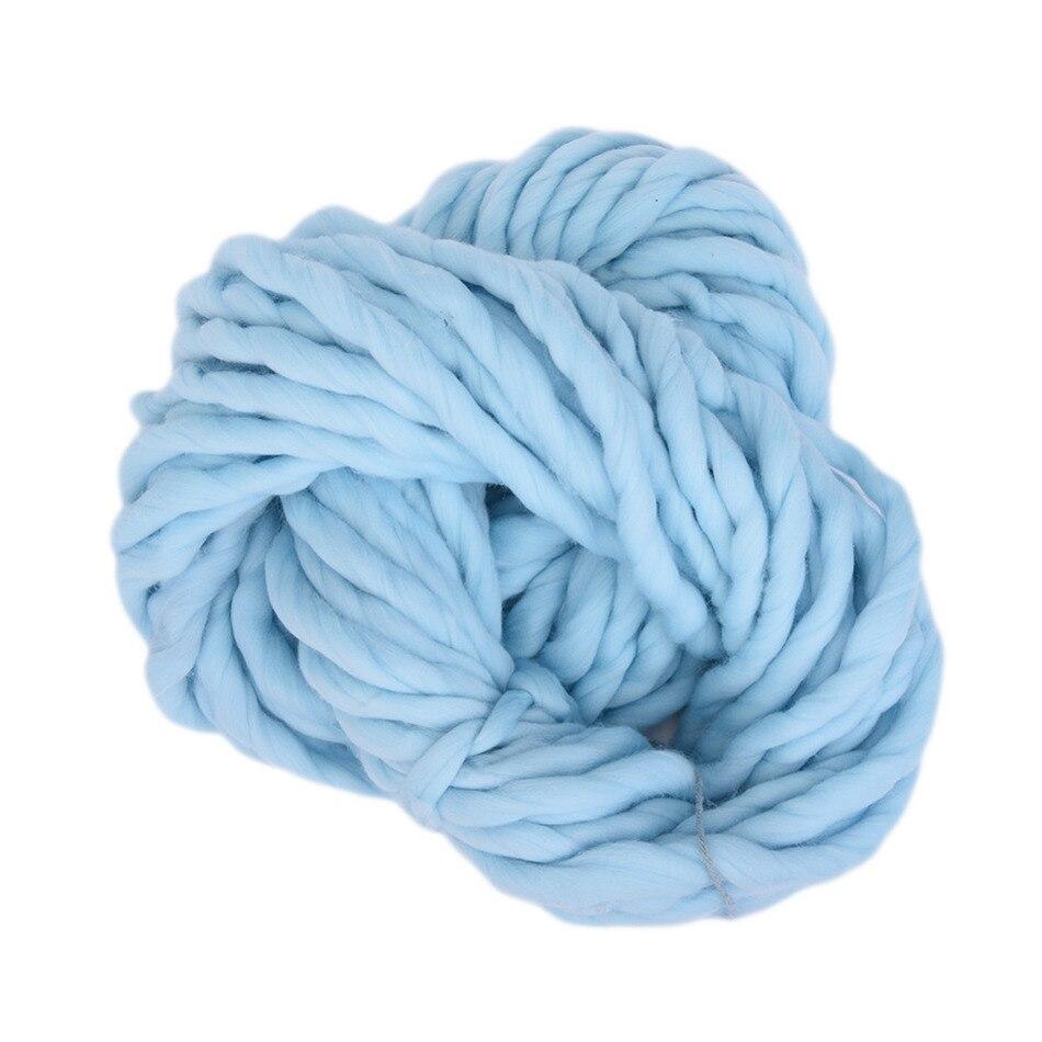 1pcs 20 Cores Lã Macia 100% Itinerante Volumosos Grosso Grande Fiação de Fios Mão Tricô Fio Fio De Crochê para o Chapéu cachecol de Tricô