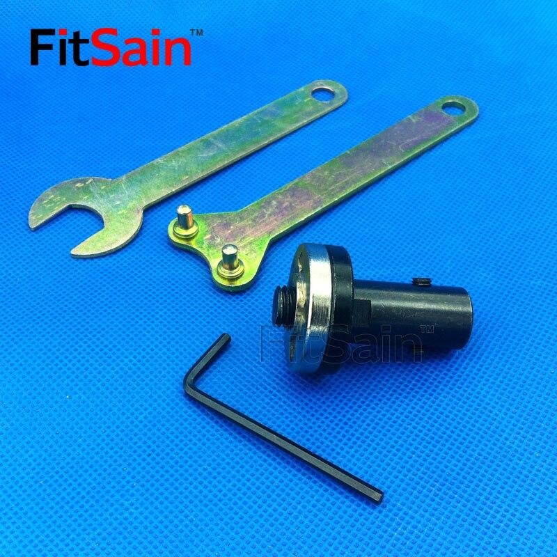 Fitsain-viu a lâmina de conexão haste bucha eixo do motor 5 14 14mm viu lâmina ângulo moedor para lâmina de serra 16mm/20mm furos