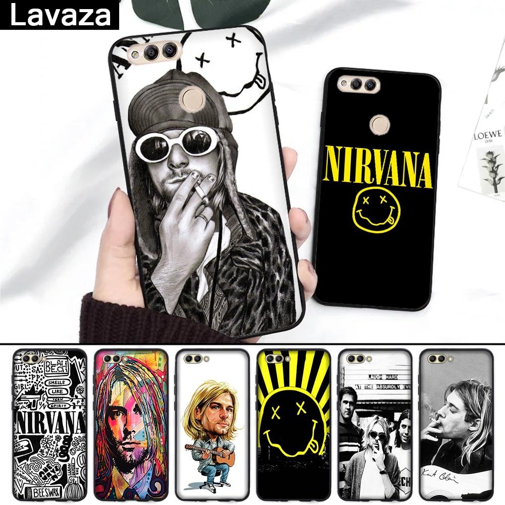 Lavaza Nirvana, Kurt Cobain, funda de silicona para Huawei Honor 6A 7A 3GB Pro 7X8 Lite 8X 8C 9 Nota 10 20 9X