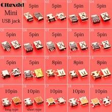 Cltgxdd kobieta mini gniazdo USB port V3 dla MP3 MP4 rodzaj USB B 5pin 8pin10pin SMT SMD USB łącze typu jack naprawa części