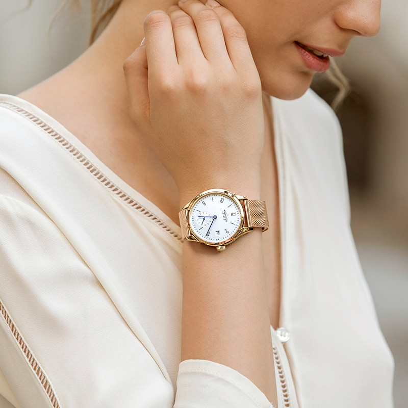 Agelocer Women Watches Luxury Brand Waterproof Simple Classic Charm Style Quartz Genuine Leather 316 Stainless Steel Watch enlarge