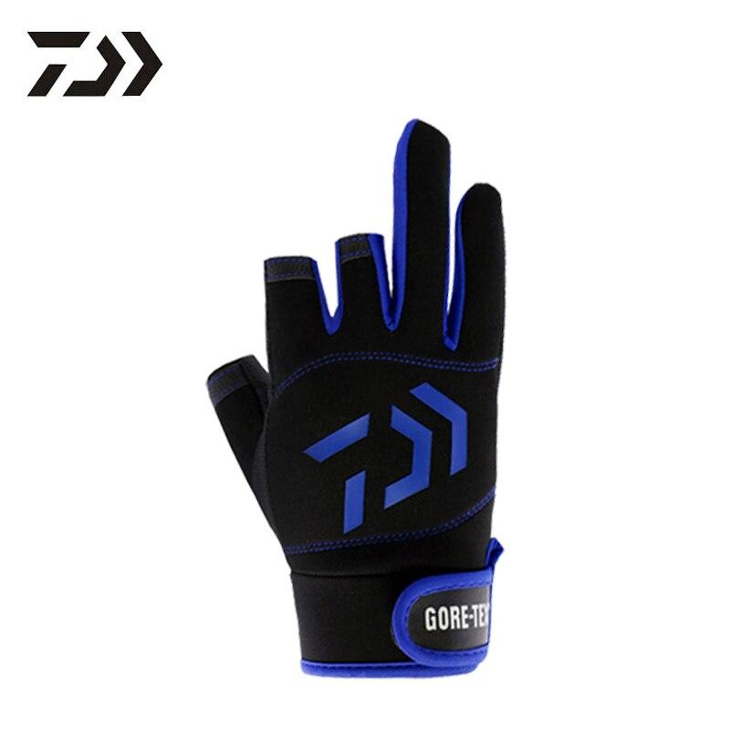 Smart Eisvogel Daiwa Dawa Sommer UV Schutz Kühlen Sport Handschuhe 3 Cut Fingers Angeln Jagd Wandern Outdoor Grundlegende