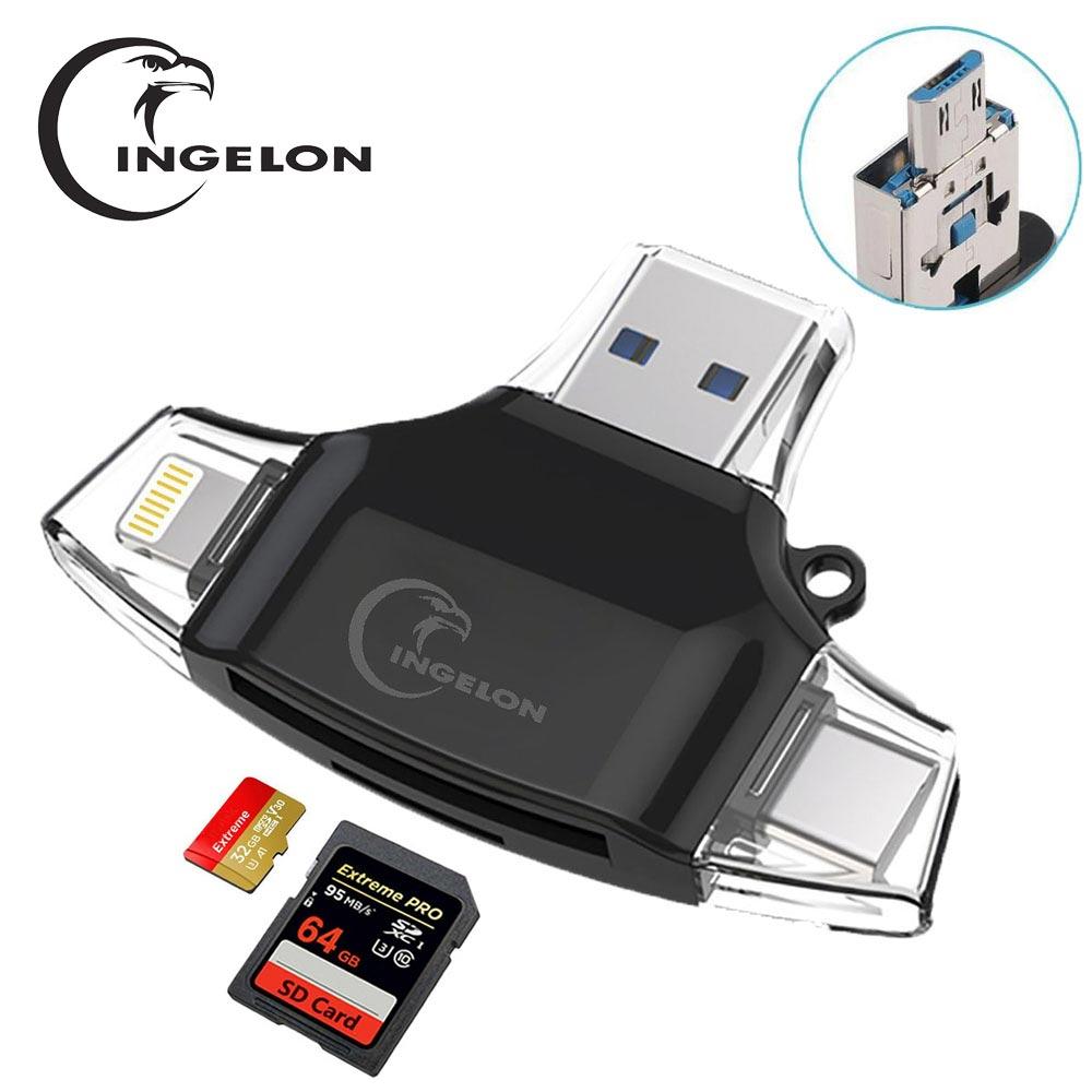 Ingelon lector de tarjeta SD Adaptador microSD lector de tarjetas SDHC SDXC...