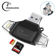 Ingelon SD Kartenleser microSD Adapter microsd Kartenleser SDHC SDXC TF usb c OTG Memory Stick duo RS MMC Adaptador für iphone
