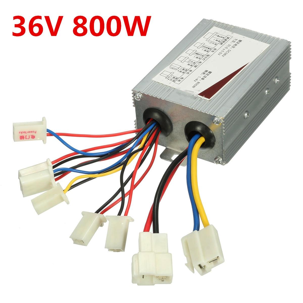 36V 800W DC Brush, controlador de velocidad del Motor para bicicleta eléctrica, Scooter, accesorios para bicicletas eléctricas
