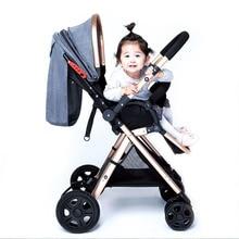 Poussette bébé deux voies bébé poussette parapluie ultra léger poussette pliable portable chariot poussette dans lavion