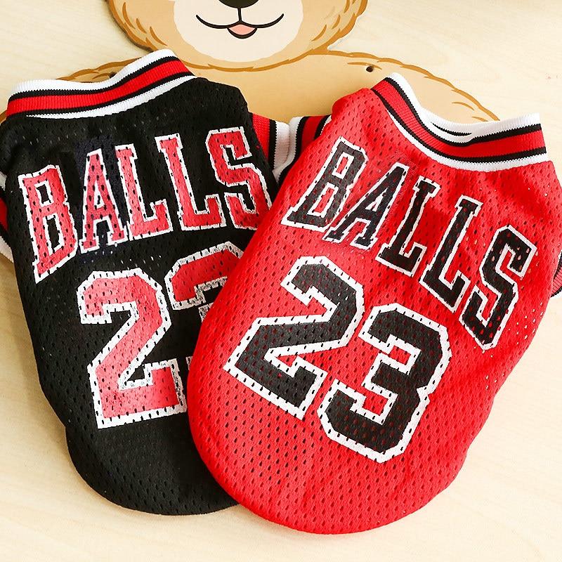Nuevas prendas de verano para perro deportes perro camisetas de perro equipo de baloncesto camisas uniforme para Chihuahua tamaño XXS-L productos para mascotas